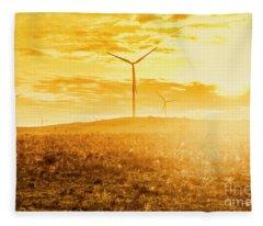 Musselroe Wind Farm Fleece Blanket
