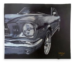 Mustang Front Fleece Blanket