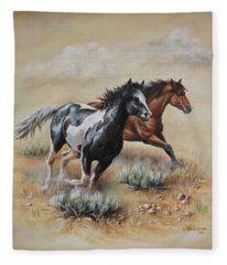 Mustang Glory Fleece Blanket