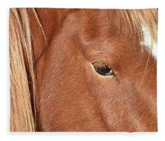 Mustang Macro Fleece Blanket