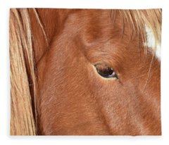 Mustang Macro Fleece Blanket