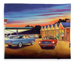Mustang Sally - Shelton's Diner 2 Fleece Blanket