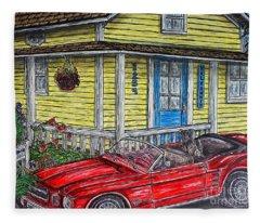 Mustang Sallys' Place Fleece Blanket