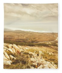 Muted Mountain Views Fleece Blanket