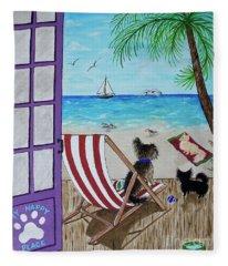 My 3 By The Sea Fleece Blanket