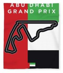 My Abu Dhabi Grand Prix Minimal Poster Fleece Blanket