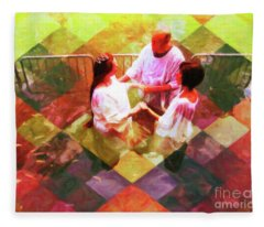My Baptism Check Mate Fleece Blanket
