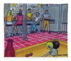 My Basement Bar Pool Table Columbus Ohio Overbrook Drive 1976 Fleece Blanket