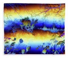 My Blue Heaven Fleece Blanket