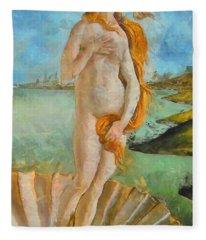 My Botticelli Venus Fleece Blanket