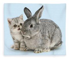 My Bunny Little Friend Fleece Blanket