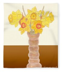 My Daffodils Fleece Blanket