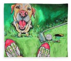My Dog Putter Fleece Blanket