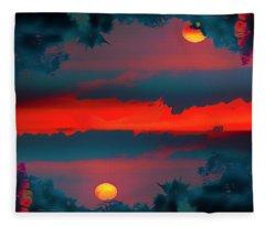 My First Sunset- Fleece Blanket
