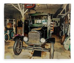My Garage Too Fleece Blanket