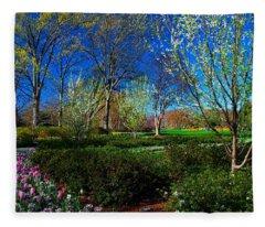 My Garden In Spring Fleece Blanket