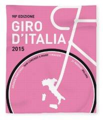 My Giro D'italia Minimal Poster 2015 Fleece Blanket