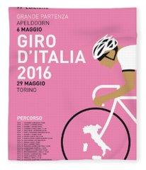 My Giro Ditalia Minimal Poster 2016 Fleece Blanket