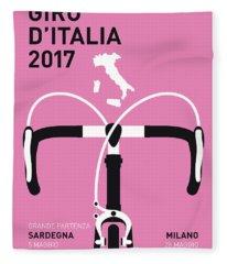 My Giro Ditalia Minimal Poster 2017 Fleece Blanket