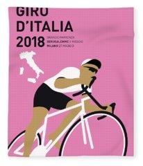 My Giro Ditalia Minimal Poster 2018 Fleece Blanket