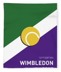 My Grand Slam 03 Wimbeldon Open 2017 Minimal Poster Fleece Blanket