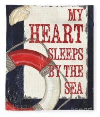 My Heart Sleeps By The Sea Fleece Blanket