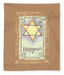 My Hexogram Fleece Blanket