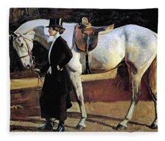 My Horse Is My Friend  Fleece Blanket