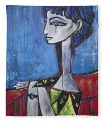 My Jacqueline Fleece Blanket