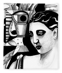 My Outing With A Young Woman By Picasso Fleece Blanket