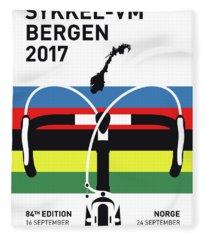 My Road World Championships Minimal Poster 2017 Fleece Blanket