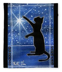 My Shinning Star - Christmas Cat Fleece Blanket