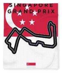 My Singapore Grand Prix Minimal Poster Fleece Blanket