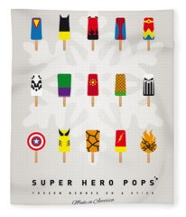 My Superhero Ice Pop - Univers Fleece Blanket