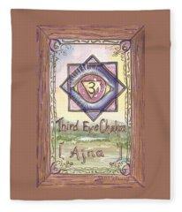 My Third Eye Chakra Fleece Blanket