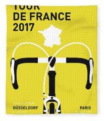 My Tour De France Minimal Poster 2017 Fleece Blanket