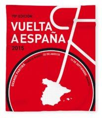 My Vuelta A Espana Minimal Poster 2015 Fleece Blanket