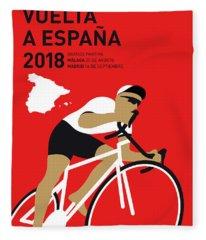 My Vuelta A Espana Minimal Poster 2018 Fleece Blanket