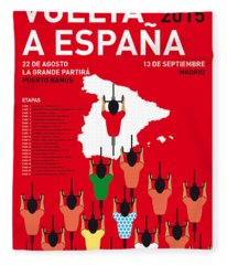 My Vuelta A Espana Minimal Poster Etapas 2015 Fleece Blanket