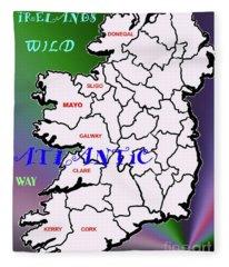 My Wild Atlantic Way In Ireland Fleece Blanket