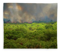 Myakka River Burn Fleece Blanket