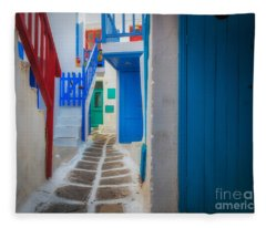 Mykonos Alley Fleece Blanket