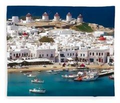Mykonos Fleece Blanket