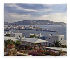 Mykonos View Fleece Blanket