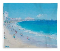 Myrtle Beach And Springmaid Pier Fleece Blanket