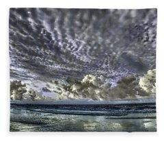 Myrtle Beach Hand Tinted Panorama Sunrise Fleece Blanket