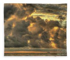 Myrtle Beach Seascape Fleece Blanket