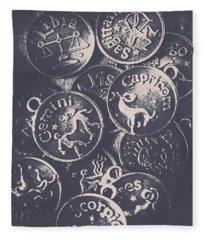 Mysteries Of The Horoscopes Fleece Blanket