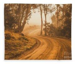 Mysterious Autumn Trail Fleece Blanket