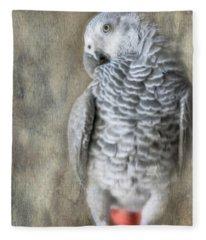Mysterious Parrot Fleece Blanket